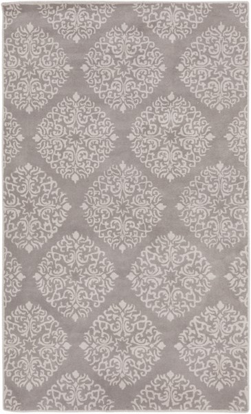 Chapman Lane Light Gray Wool Area Rug - 60 x 96 CHLN9007-58