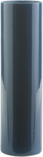 Chastain Contemporary Teal Ceramic Table Vase - 3.94X3.94X14.17 CHS625-L