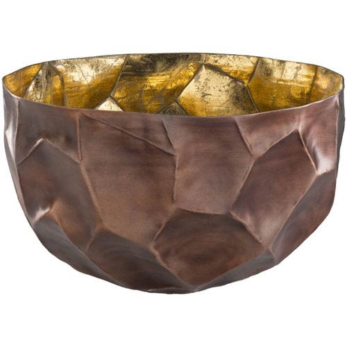 Surya Clarinda Gold Copper Metal Large Bowl CID001-L
