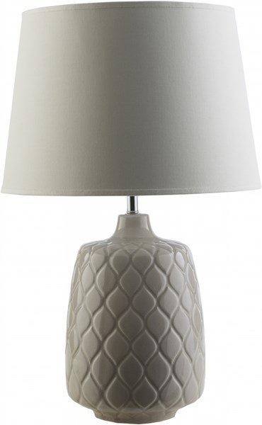 Claiborne Cream Ceramic Cotton Table Lamp (W15 X H 24) CLB440-TBL