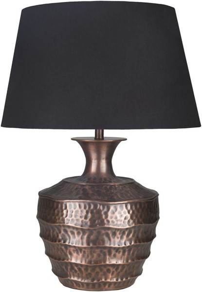Surya Carlisle Black Faux Silk Table Lamp - 20x31.50 CLE-001