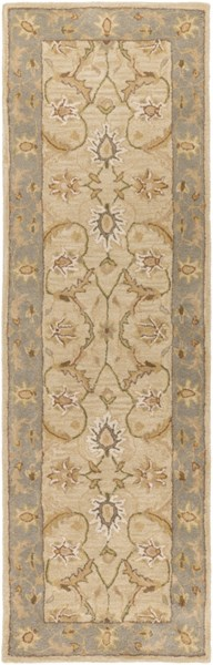 Clifton Beige Slate Mocha New Zealand Wool Runner (L 96 X W 30) CLF1014-268