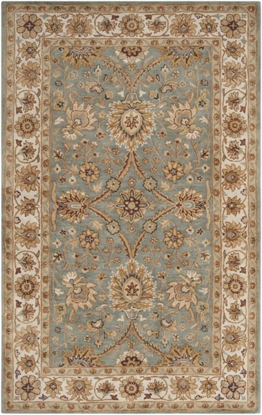 Clifton Beige Gold Ivory New Zealand Wool Area Rug (L 96 X W 60) CLF1018-58