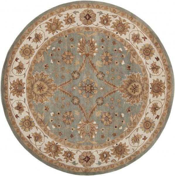 Clifton Beige Gold Ivory New Zealand Wool Area Rug (L 96 X W 96) CLF1018-8RD