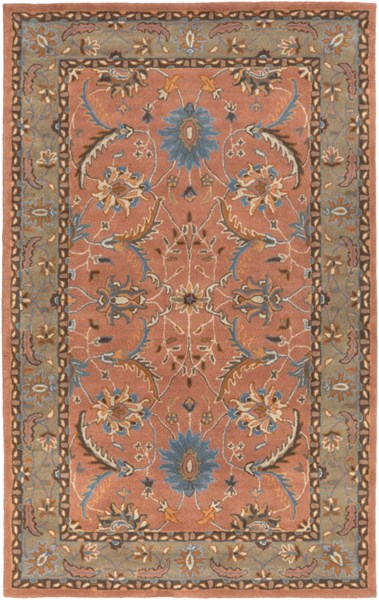 Clifton Rust Chocolate Slate New Zealand Wool Area Rug (L 96 X W 60) CLF1022-58