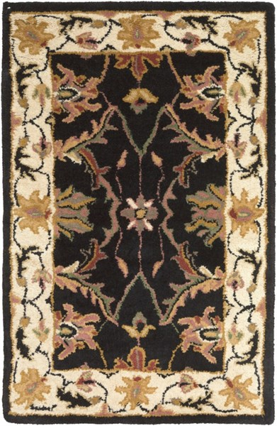 Clifton Black Ivory Olive New Zealand Wool Area Rug (L 36 X W 24) CLF1023-23