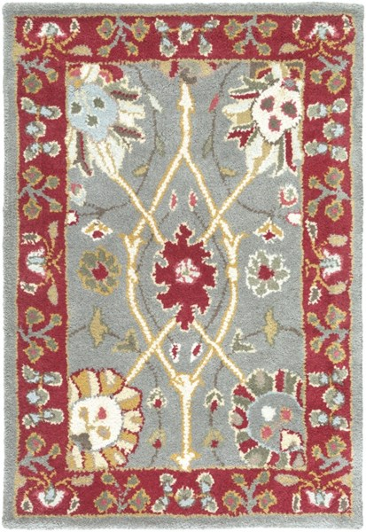 Clifton Moss Eggplant Ivory New Zealand Wool Area Rug (L 36 X W 24) CLF1028-23