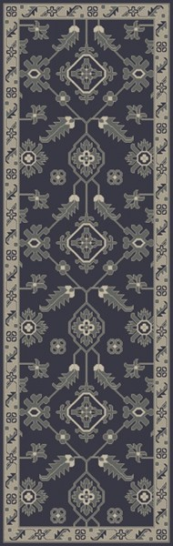 Castello Moss Forest Light Gray Fabric Area Rug (L 96 X W 30) CLL1000-268