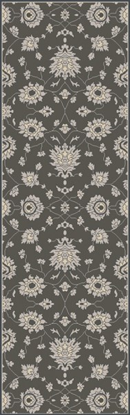 Castello Forest Light Gray Navy Wool Area Rug - 30 x 96 CLL1002-268