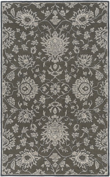 Castello Forest Light Gray Navy Wool Area Rug - 60 x 90 CLL1002-576