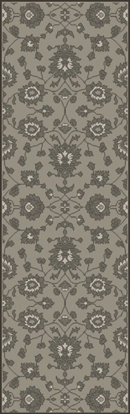 Castello Light Gray Moss Ivory Fabric Area Rug (L 96 X W 30) CLL1003-268