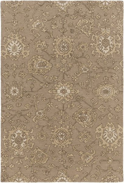 Castello Taupe Light Gray Olive Wool Area Rug - 60 x 90 CLL1004-576