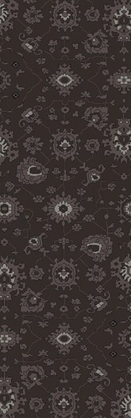 Castello Charcoal Taupe Light Gray Wool Area Rug - 30 x 96 CLL1005-268