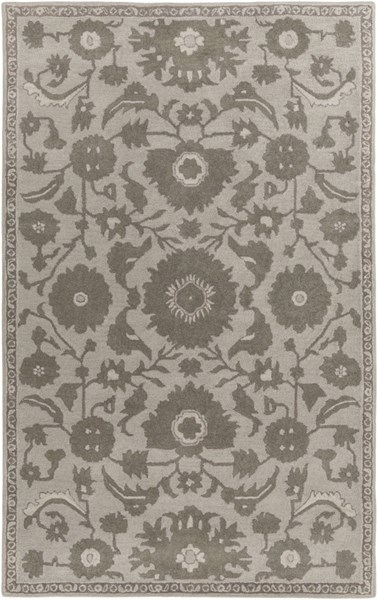 Castello Light Gray Moss Ivory Wool Area Rug - 60 x 90 CLL1007-576
