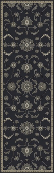 Castello Moss Forest Light Gray Wool Area Rug - 30 x 96 CLL1008-268