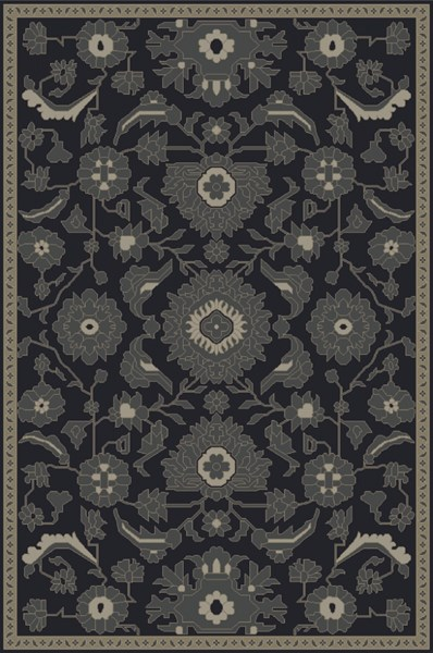 Castello Moss Forest Light Gray Wool Area Rug - 60 x 90 CLL1008-576