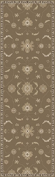 Castello Taupe Olive Light Gray Wool Area Rug - 30 x 96 CLL1009-268