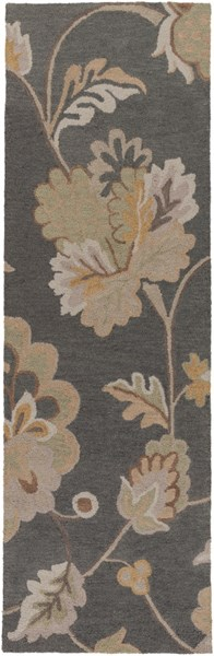 Calypso Charcoal Taupe Gold Wool Runner - 30 x 96 CLP5005-268