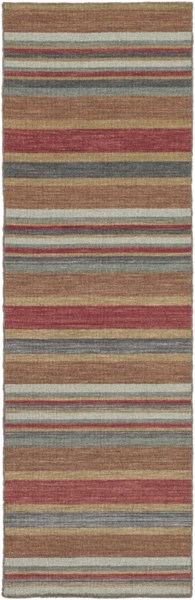 Calvin Cherry Gold Olive Wool Runner - 30 x 96 1736-VAR1
