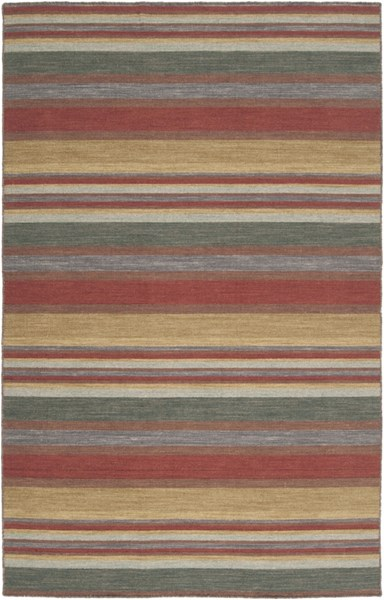Calvin Cherry Gold Olive Wool Area Rug - 60 x 96 CLV1004-58
