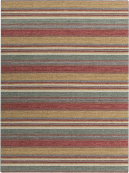 Calvin Cherry Gold Olive Wool Area Rug - 96 x 132 CLV1004-811