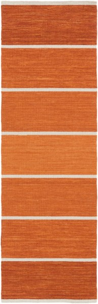 Calvin Contemporary Rust Coral Wool Runner CLV1044-268
