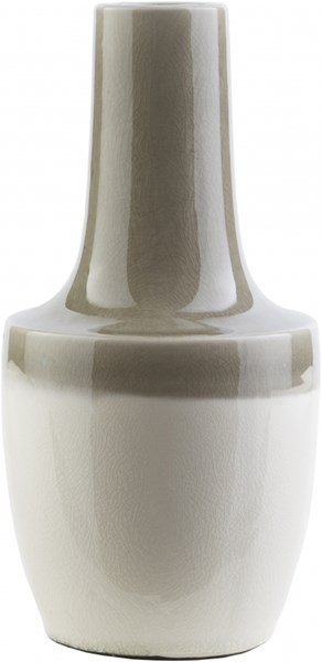 Clayton Contemporary Olive Ivory Ceramic Table Vase CLY672-M