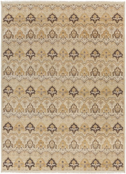 Cambridge Ivory Taupe Mauve New Zealand Wool Area Rug - 102 x 138 CMB8000-86116