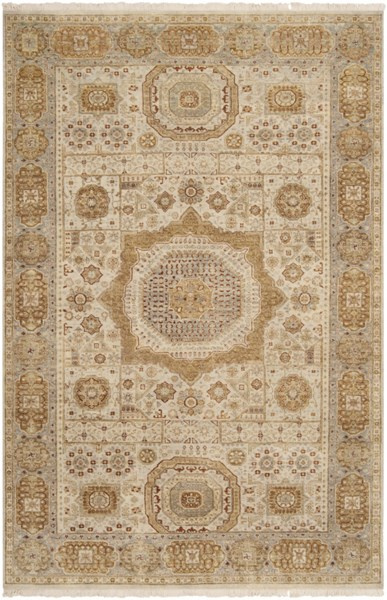 Cambridge Beige Gold Olive New Zealand Wool Area Rug - 66 x 102 CMB8001-5686