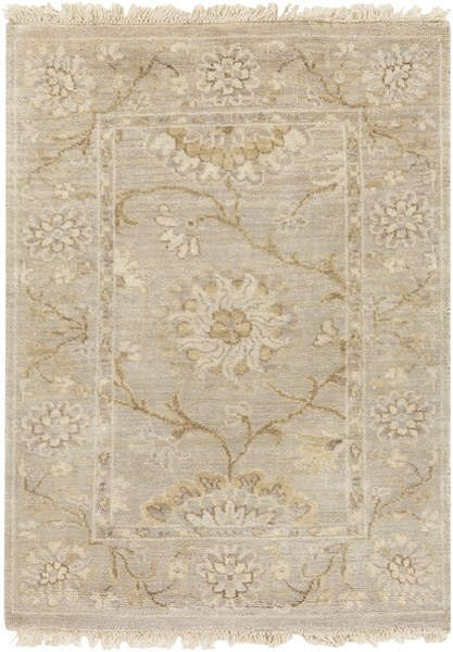 Cambridge Beige Gray Gold New Zealand Wool Area Rug - 24 x 36 CMB8006-23
