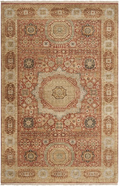 Cambridge Rust Beige Olive New Zealand Wool Area Rug - 66 x 102 CMB8008-5686