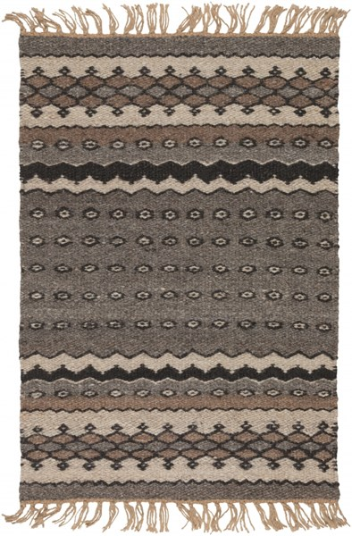 Camel Contemporary Chocolate Sea Foam Black Fabric Kids Rugs 1805-VAR1