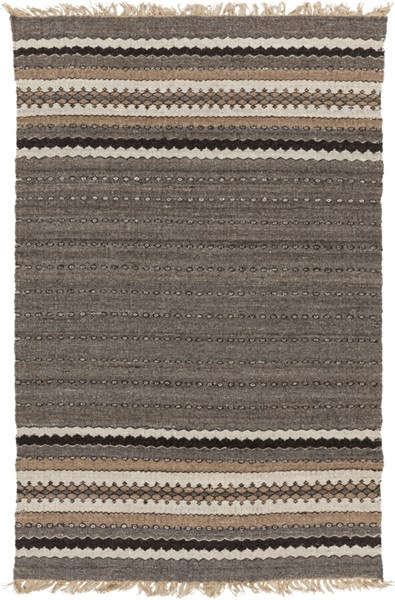 Camel Chocolate Sea Foam Black Jute Wool Kids Rug - 60 x 96 CME2000-58