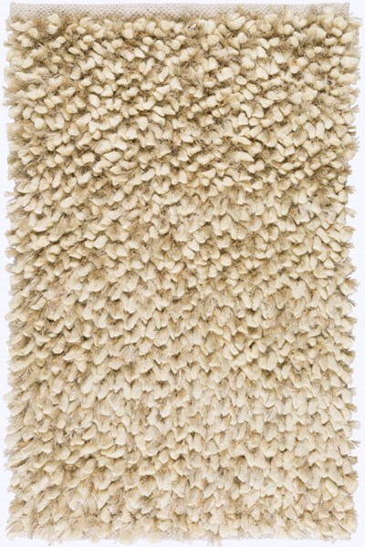 Cumulus Ivory Light Gray Wool Felted Polyester Area Rugs 1929-VAR1