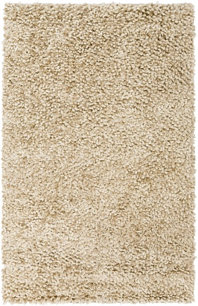 Cumulus Ivory Light Gray Wool Felted Polyester Area Rug (L 96 X W 60) CML2000-58