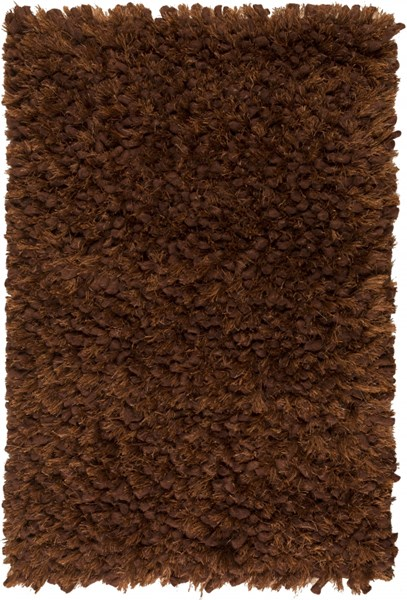Cumulus Chocolate Olive Wool Felted Polyester Area Rug (L 36 X W 24) CML2001-23