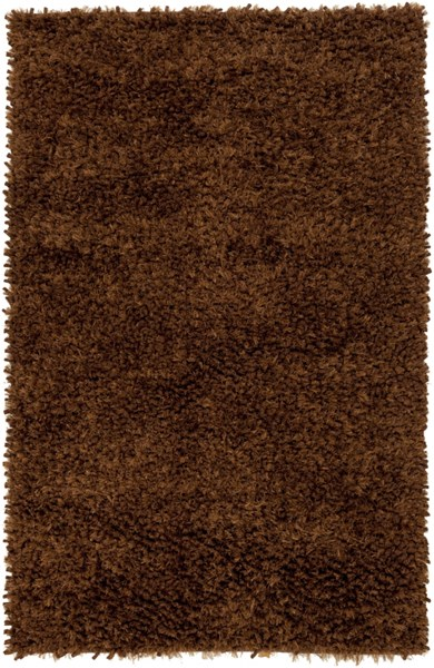 Cumulus Chocolate Olive Wool Felted Polyester Area Rug (L 96 X W 60) CML2001-58