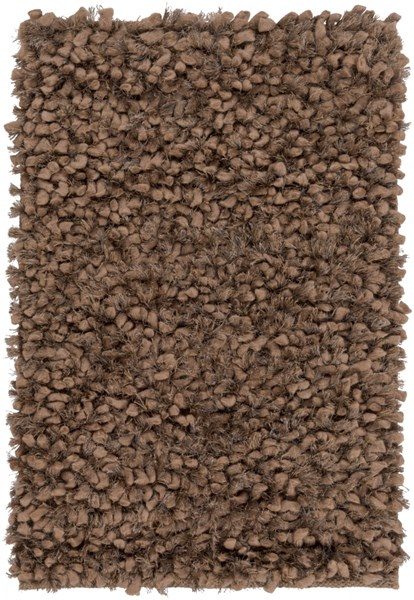 Cumulus Taupe Olive Wool Felted Polyester Area Rug (L 36 X W 24) CML2002-23
