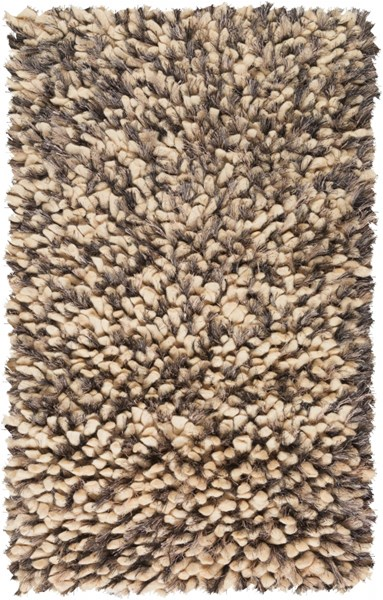 Cumulus Ivory Gray Wool Felted Polyester Area Rug (L 36 X W 24) CML2004-23