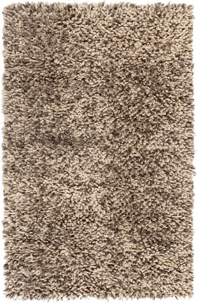 Cumulus Ivory Gray Wool Felted Polyester Area Rug (L 96 X W 60) CML2004-58