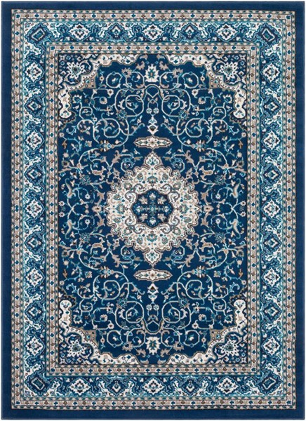 Surya Clairmont Navy Sky Blue Dark Brown Polypropylene Area Rug - 67x47 CMT2309-31157