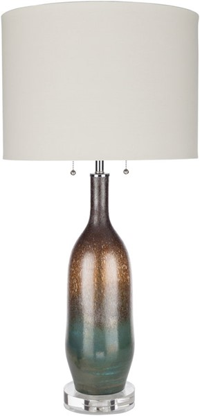 Surya Cannon White Glass Crystal Table Lamp - 17x34 CNN-001