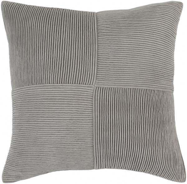Conrad Contemporary Gray Cotton Solid Throw Pillow (L 20 X W 20 X H 5) CNR002-2020D