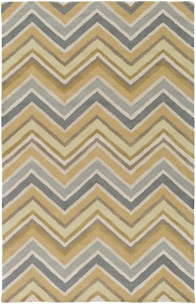 Centennial Olive Moss Light Gray Wool Area Rug - 60 x 96 CNT1106-58