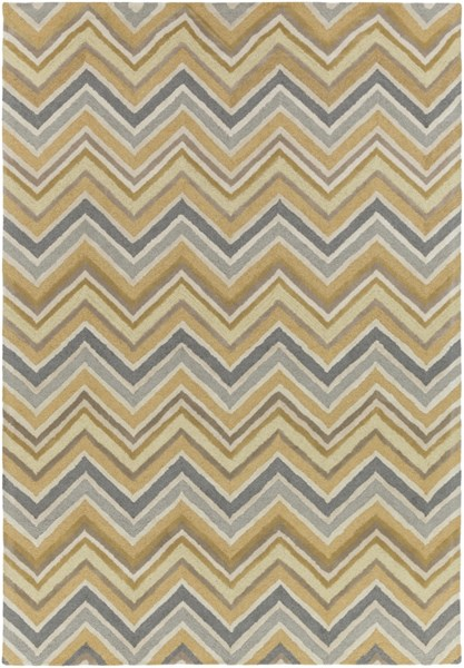 Centennial Olive Moss Light Gray Wool Area Rug - 96 x 132 CNT1106-811