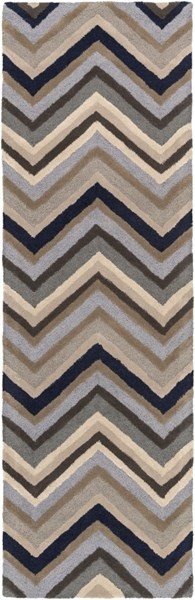 Centennial Light Gray Navy Wool Runner - 30 x 96 CNT1108-268