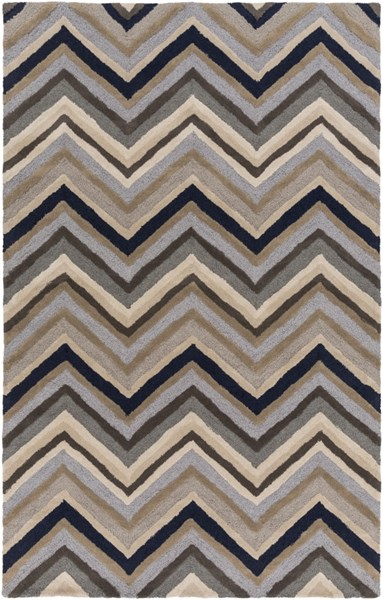 Centennial Light Gray Navy Wool Area Rug - 60 x 96 CNT1108-58