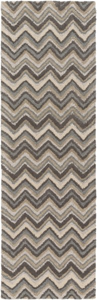 Centennial Light Gray Olive Slate Wool Runner - 30 x 96 CNT1110-268