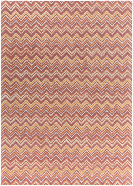 Centennial Gray Rust Gold Wool Area Rug - 96 x 132 CNT1111-811