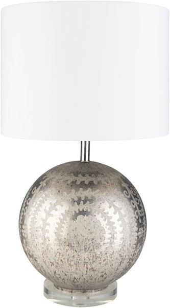 Surya Constancce White Glass Acrylic Table Lamp - 15x26 COC-001